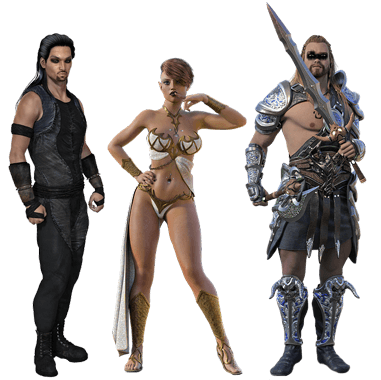 Warrior 3D Characters