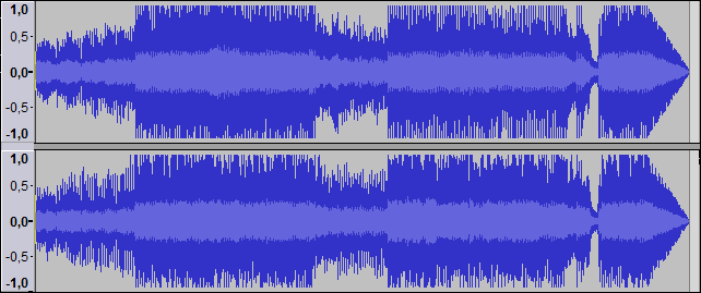 Audio format in Audacity
