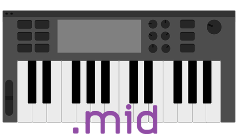 Keyboard midi format
