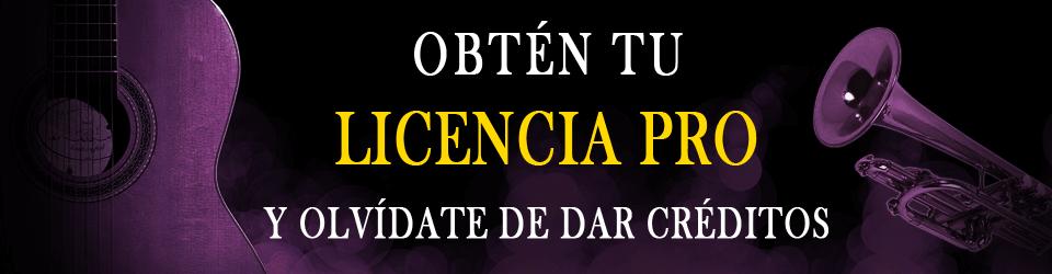 Licencia Pro para la música de Patrick de Arteaga